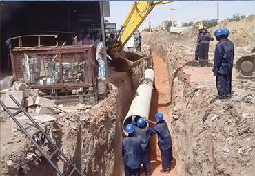 Wastewater Transmission Pipe Line from Pump station to waste water treatment plant of Khartoum city( Sudan )
