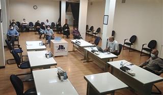 توجیه مسائل ایمنی با حضور پیمانکاران شرکت آب و فاضلاب مشهد