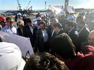 بازدید معاون اول محترم رئیس جمهور و وزیر محترم نیرو از طرح انتقال آب خلیج فارس