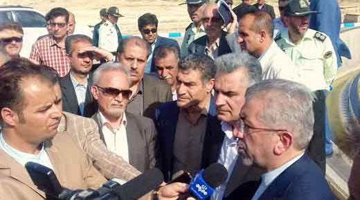 افتتاح تصفیه خانه فاضلاب نور آباد با حضور وزیر محترم نیرو
