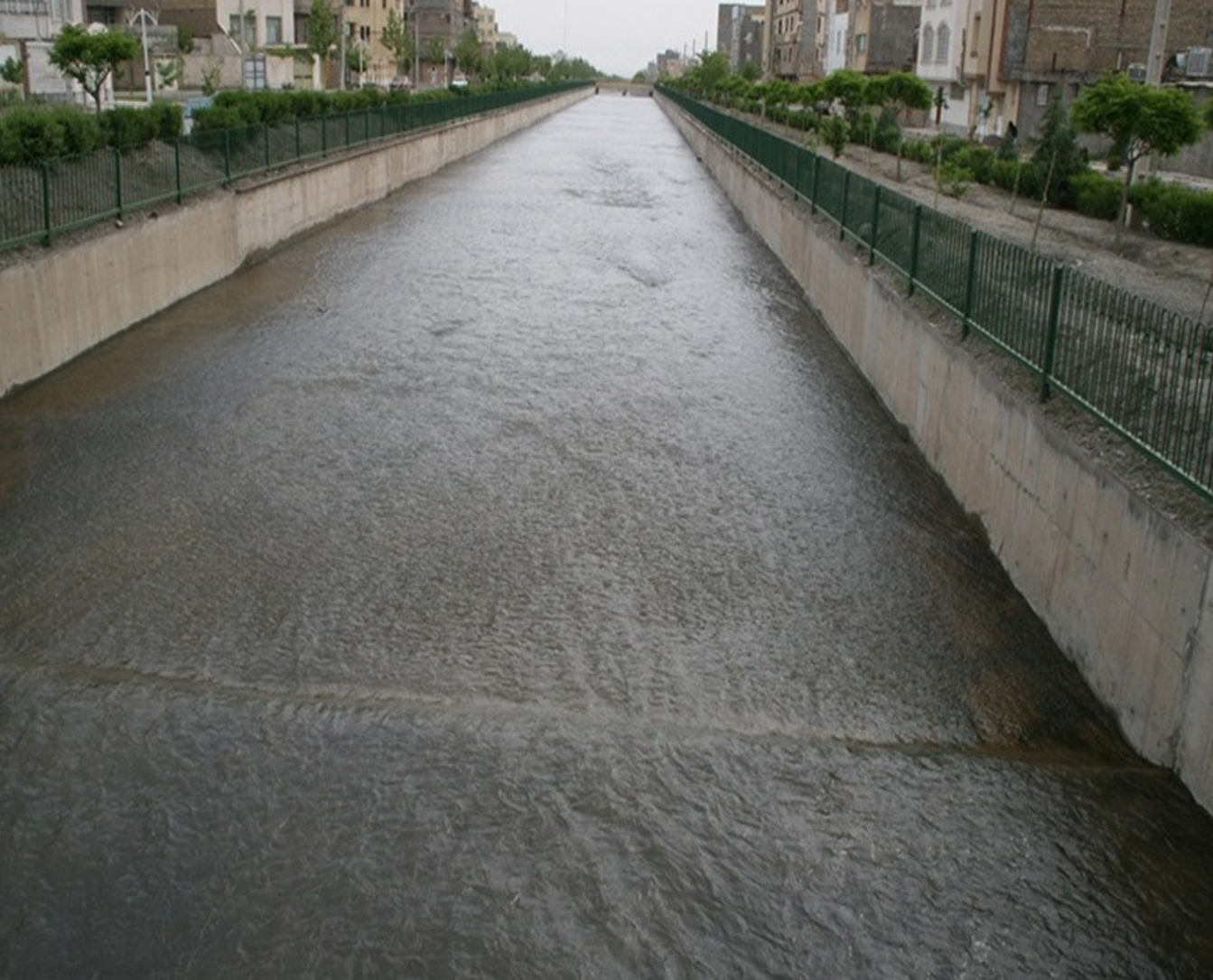 the collection and disposal of surface water in Mashhad, Naderi River